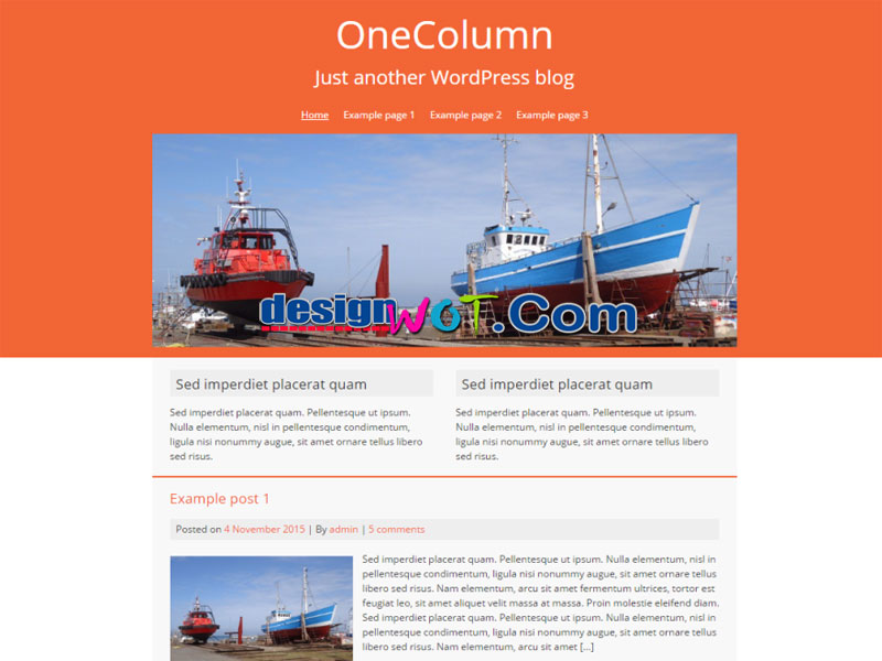 OneColumn Mobile friendly WordPress Theme