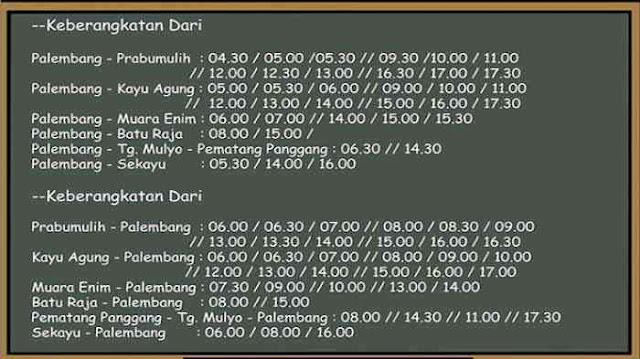 Jadwal Damri Palembang Muara Enim