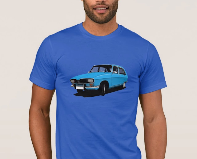 Renault 16 TL turquoise classic car t-shirt