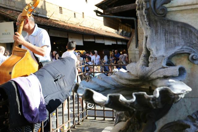 Straßenmusiker in Florenz - mit Kindern in Florenz unterwegs