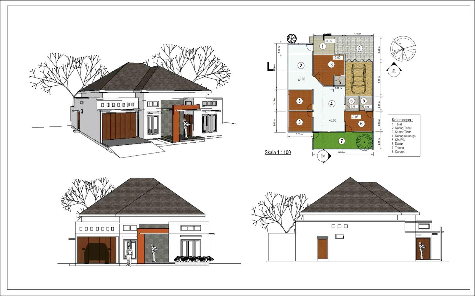 Menggambar Desain Rumah dengan Sketchup