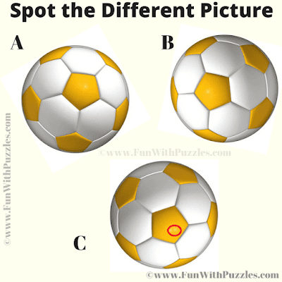 Answer of One One Out Football Picture Puzzle for Kids