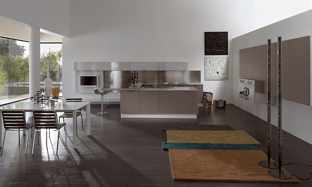 Cocinas en ambientes loft sin paredes ni obst culos for Cocina industrial tipo loft