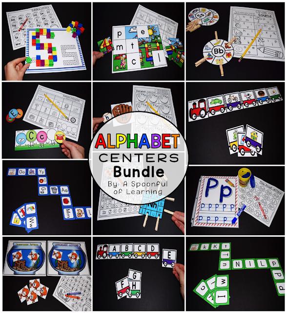 Alphabet Center Activities Bundle