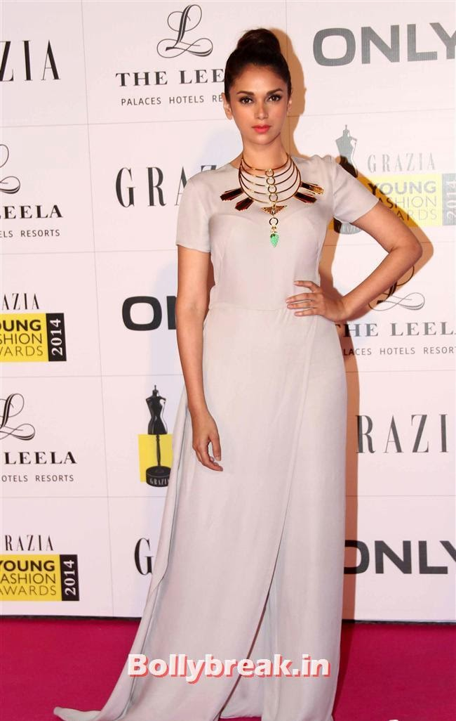 Aditi Rao, Hottest Celebs of Bollywood at Grazia Young Fashion Awards 2014