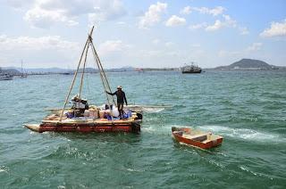 Darien Gap, mit dem selbsgebauten Boot / Floss / Katamaran umfahren