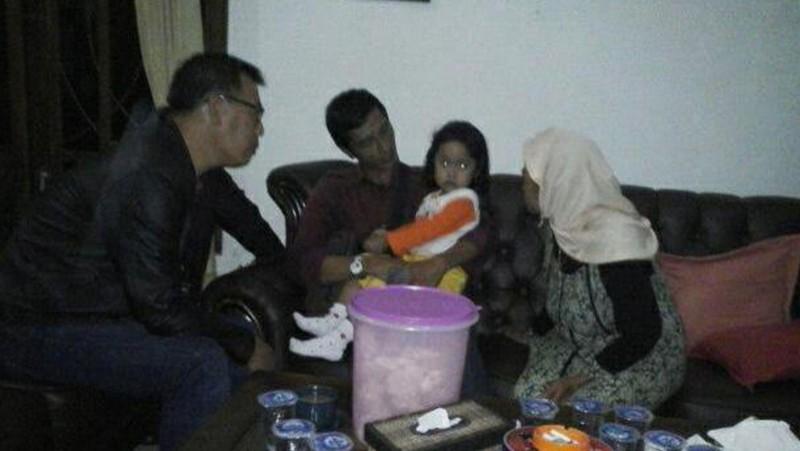 Sabita Maufidah Lailia kembali ke rumahnya