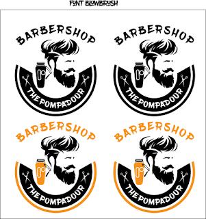 Contoh Logo barbershop cdr