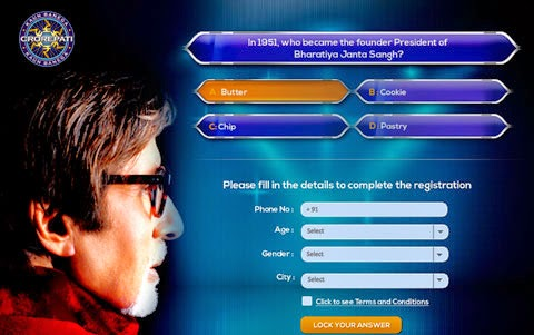 KBC Registration by Online Website