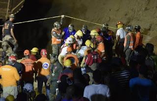 Martes trágico: mueren cuatro en derrumbe y dos al caer helicóptero