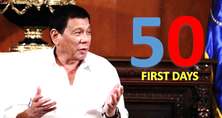 Duterte marks first 50 days as Philippine president