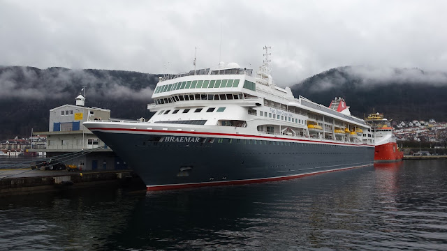 Fred Olsen cruise ship Braemar; Fjord Cruise; Bergen; Norway