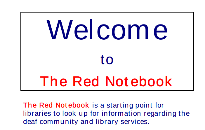 a picture of the red notebook website.
