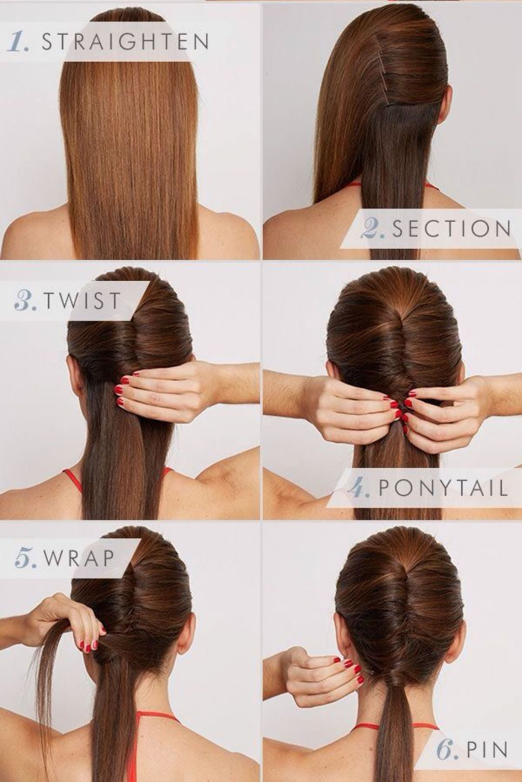 Sleek vixen hairstyle step by step
