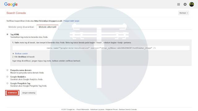 Cara Mendaftarkan Blog Ke Google Webmaster Dengan Benar