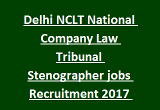 Delhi NCLT National Company Law Tribunal Stenographer jobs Recruitment 2017 Notification