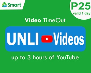 Smart  Video Timeout 25 – Unli YouTube for 25 Pesos up to 3 hours