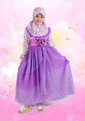 contoh gambar baju muslim anak perempuan