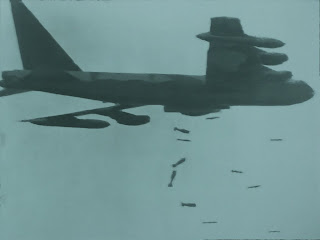 Bombardero Americano B52 sobre los Tuneles de Cu Chi (Vietnam)