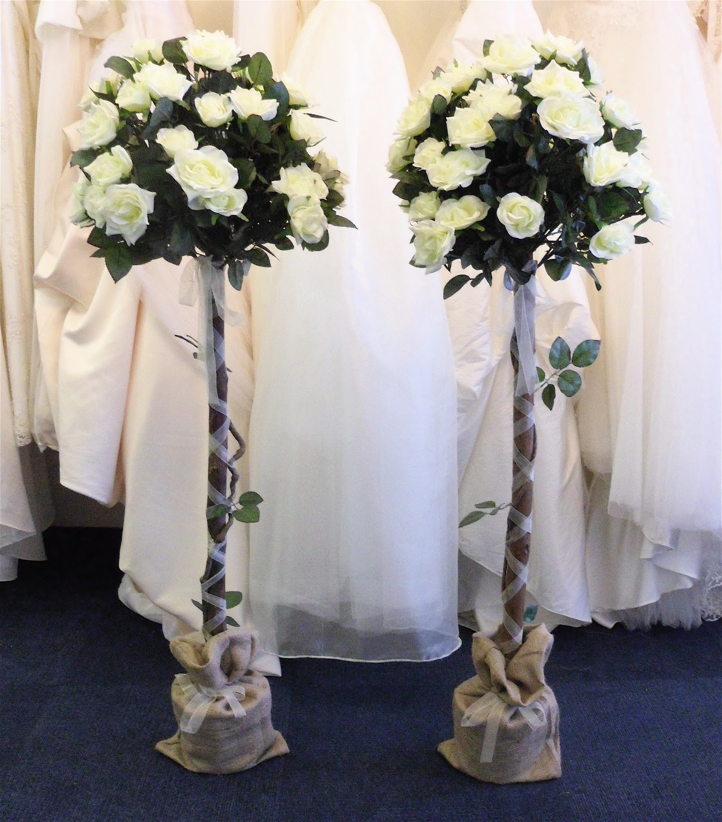 4 Foot Led Lights >> Wow Factor Wedding: Bridal Arch & Standard Rose Trees