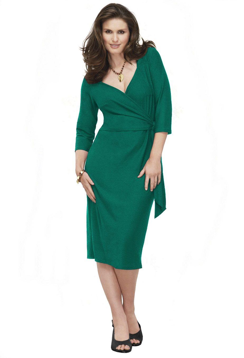 Top Celebrity Fashion Wrap Dresses For Plus Size Women