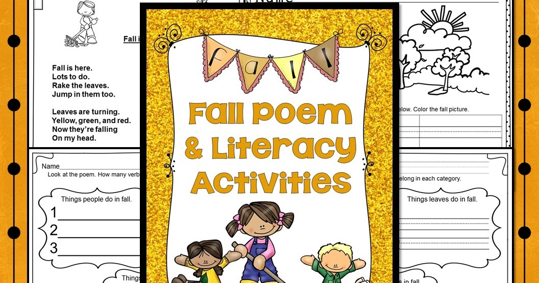 Classroom Freebies: Fall Poem And Verb Find Activities