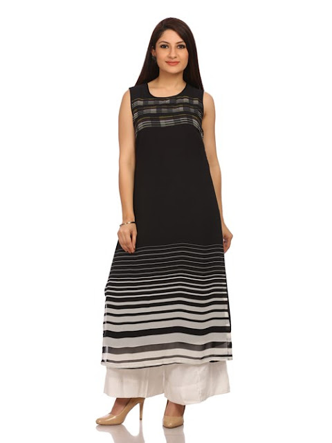 Black Viscose Straight Dress