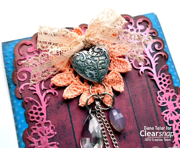 Textured Thank You Card by Dana Tatar for Clearsnap