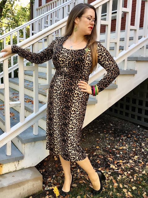 vixen by micheline pitt wild vintage leopard wiggle dress review