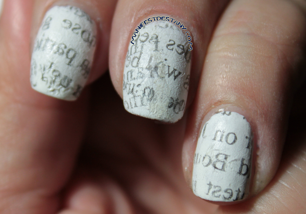 The one with Fail Art - Newsprint nails! | Confessions of a ...