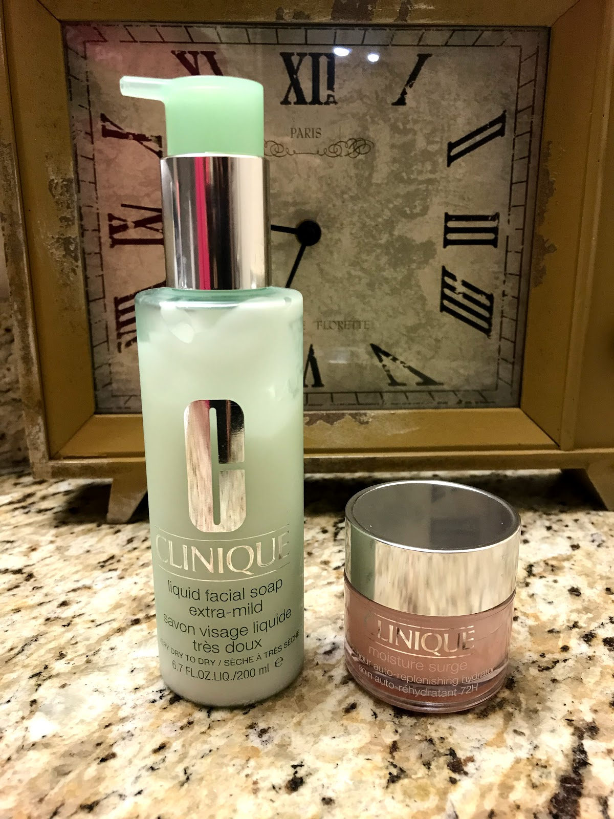 Image: Clinque Skincare products. Sharing on weekend bits and favorites