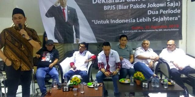 Farhat Abbas dan Sonny Tulung deklarasi 'Biar Pakde Jokowi Saja'