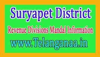 Suryapet District Revenue Divisions Mandal Information
