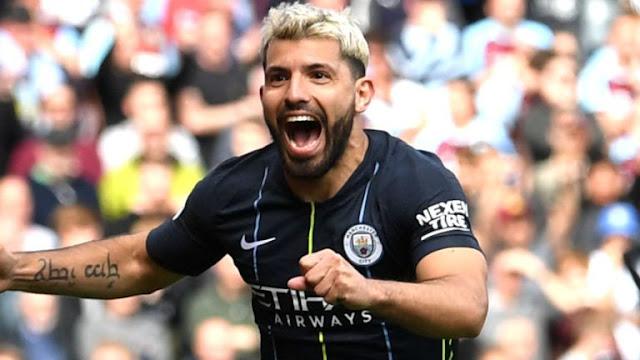 Manchester City Sergio Aguero celebrates