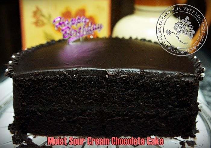 Homekreation Kitchen Corner Moist Sour Cream Chocolate Cake