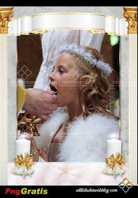 First Holy Communion Frame with Candles