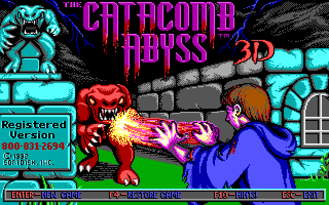Catacomb Abyss 3D title screen