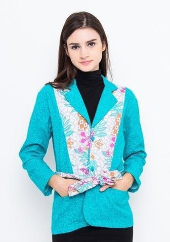 Contoh Batik Kombinasi Polos Terkini