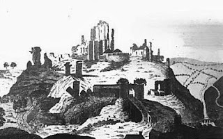Corfe Castle from The Lady's Magazine (1789)