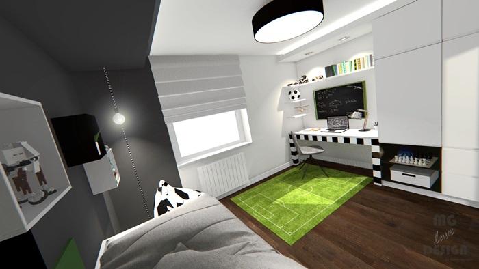 5 Pokój dla chłopca - piłka nożna - architekt wnętrz Nysa Głuchołazy