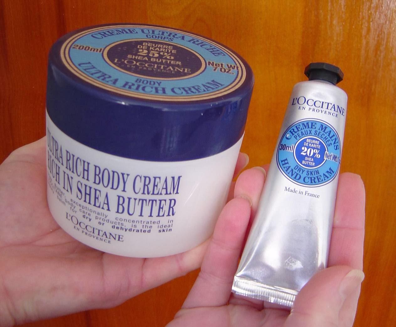 L'Occitane's Shea Butter Ultra Rich Body Cream and Dry Skin Shea Hand Cream.jpeg