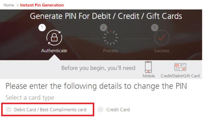 how to reset kotak debit card pin online