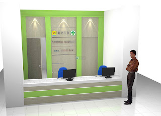 Meja Ruang Pendaftaran - Meja Front Desk Granit - Meja kantor Semarang