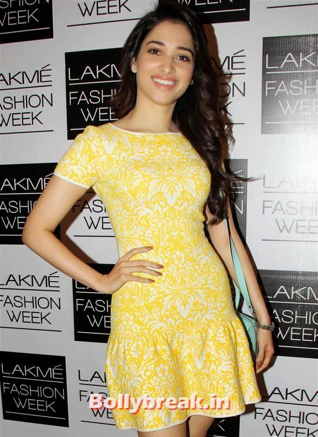 Tamanna Bhatia, Bollywood Actresses at Lakme Fashion Week 2014