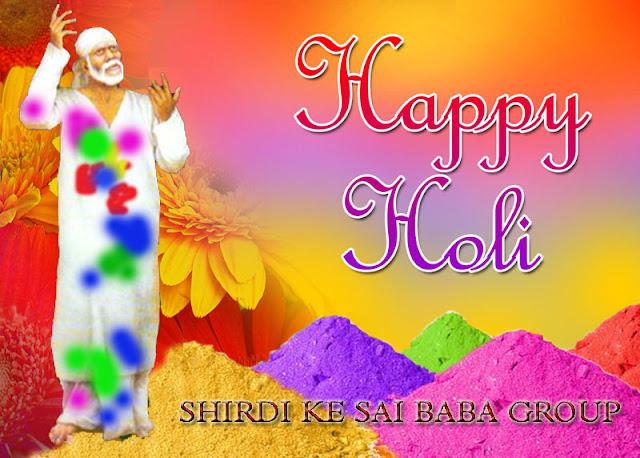 Happy Holi Sai baba Images