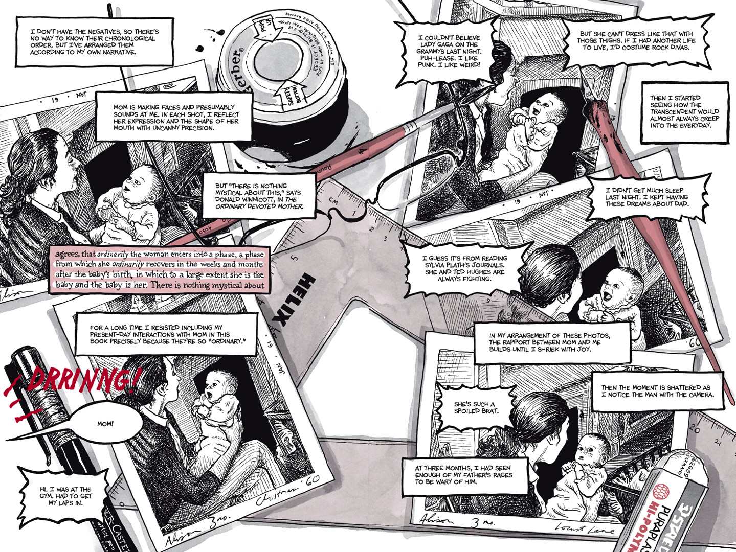 Page 32, Chapter 1: Ordinary Devoted Mother from Alison Bechdel's graphic novel Are You My Mother