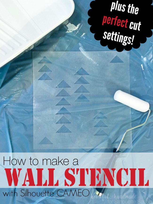 wall stencil, diy wall stencil, silhouette studio, silhouette cameo tutorial