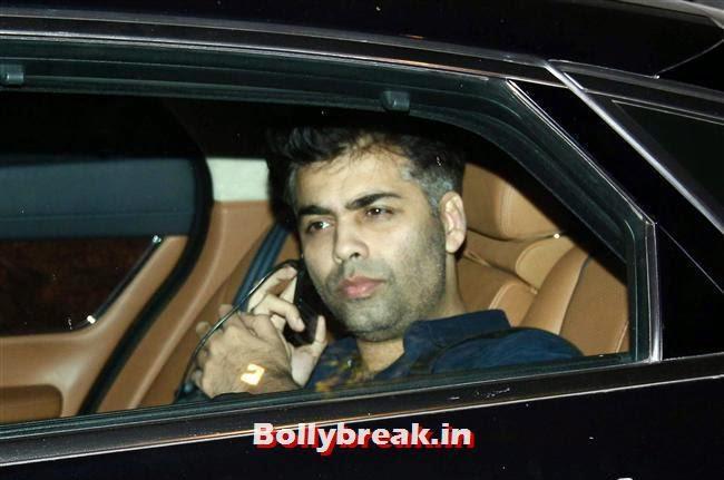 KAran Johar, Bollywood celebs Clicked in their Cars at 2 States Special Screening