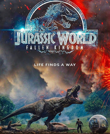 Poster Of Jurassic World: Fallen Kingdom In Dual Audio Hindi English 300MB Compressed Small Size Pc Movie Free Download Only At worldfree4u.com