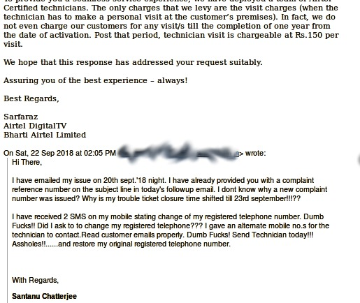 Airtel DTH: Error B001/Error B003 and Why I left Airtel